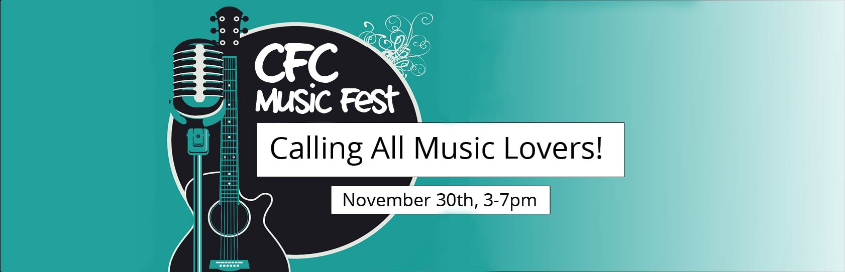 banner with guitar and CFC music fest