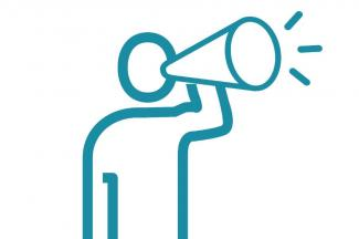 Icon of a person speaking through a megaphone