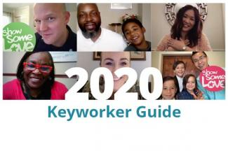 "Images of federal employees with ""2020 Keyworker Guide"" superimposed"